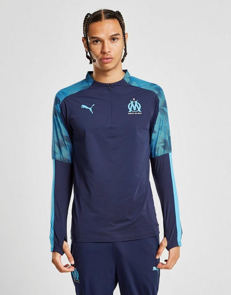 PUMA Haut Olympique Marseille 1/4 Zippé Homme