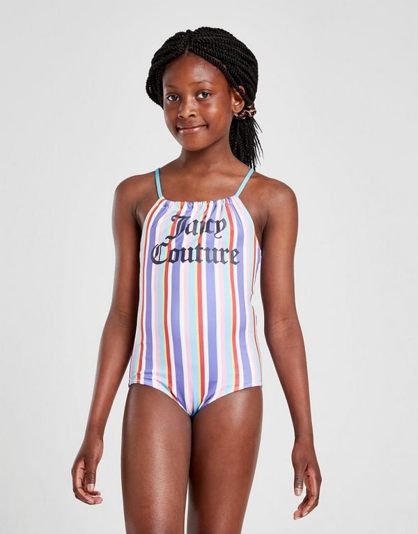 Juicy by Juicy Couture Girls' Stripe Swimsuit Junior