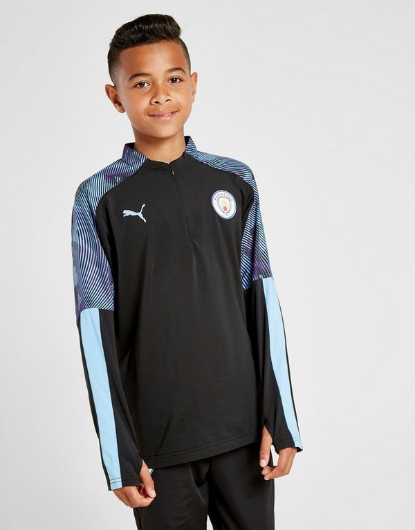 PUMA Manchester City FC 1/4 Zip Top Junior