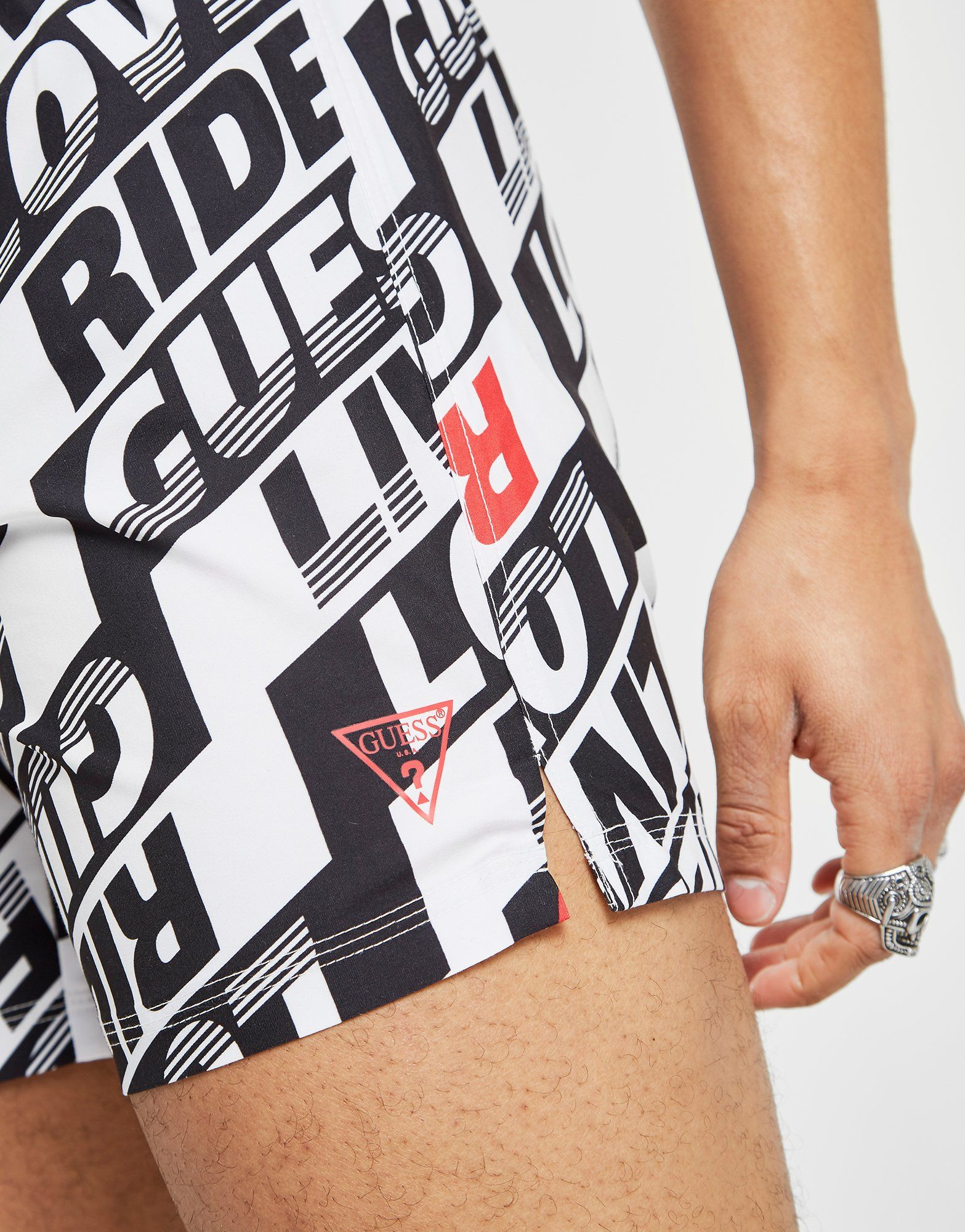 GUESS All Over Print Swim Shorts