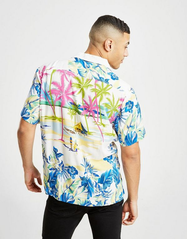 GUESS Surf All Over Print Short Sleeve Shirt