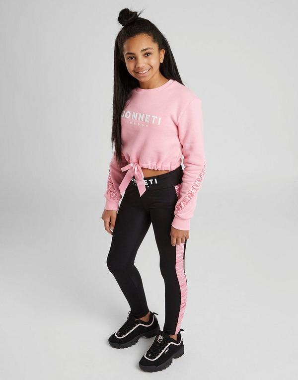 New Sonneti Girls' Naomi Ruched Crew Sweatshirt Junior