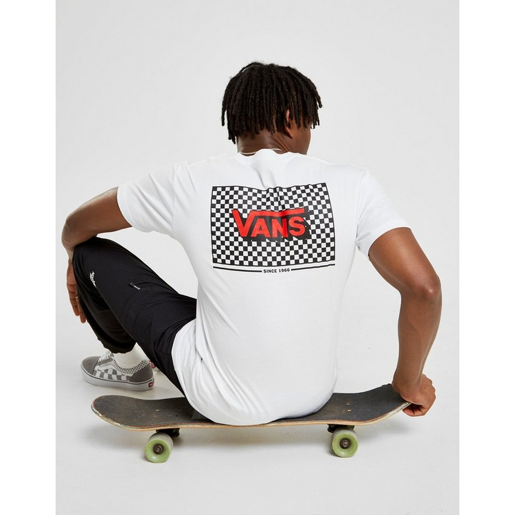Vans Back Box Checkerboard T-Shirt Heren