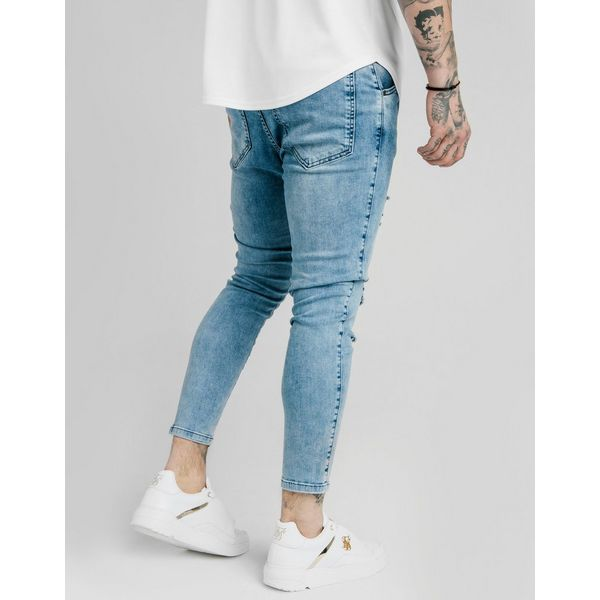SikSilk pantalón vaquero Skinny Midwash