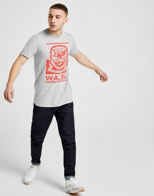 Official Team Wales FA Fade Short Sleeve T-Shirt