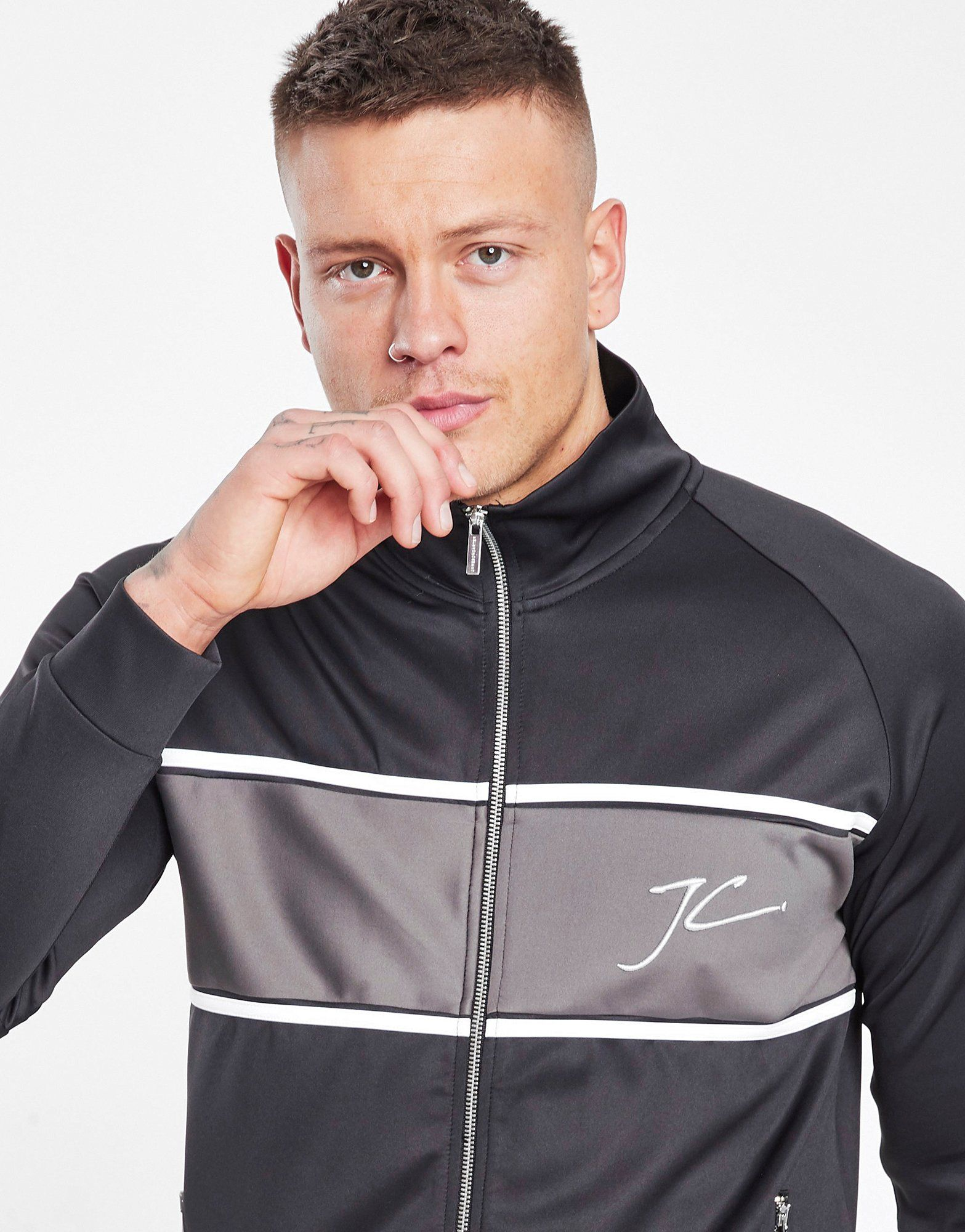 JAMESON CARTER Abbots Poly Full Zip Track Top