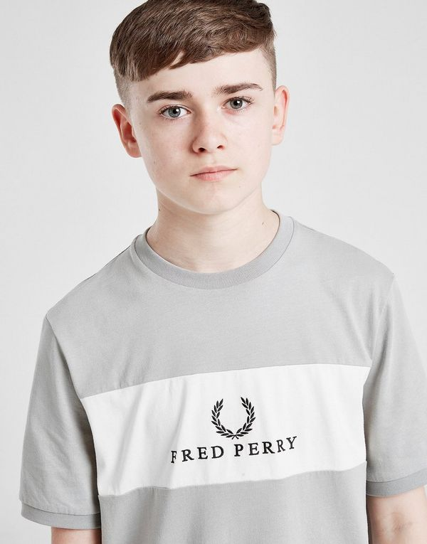 Fred Perry Colour Block Logo T-Shirt Junior