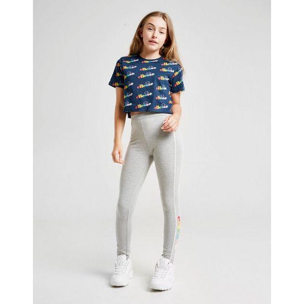 Ellesse Girls' Maratea All Over Print Crop T-Shirt Junior