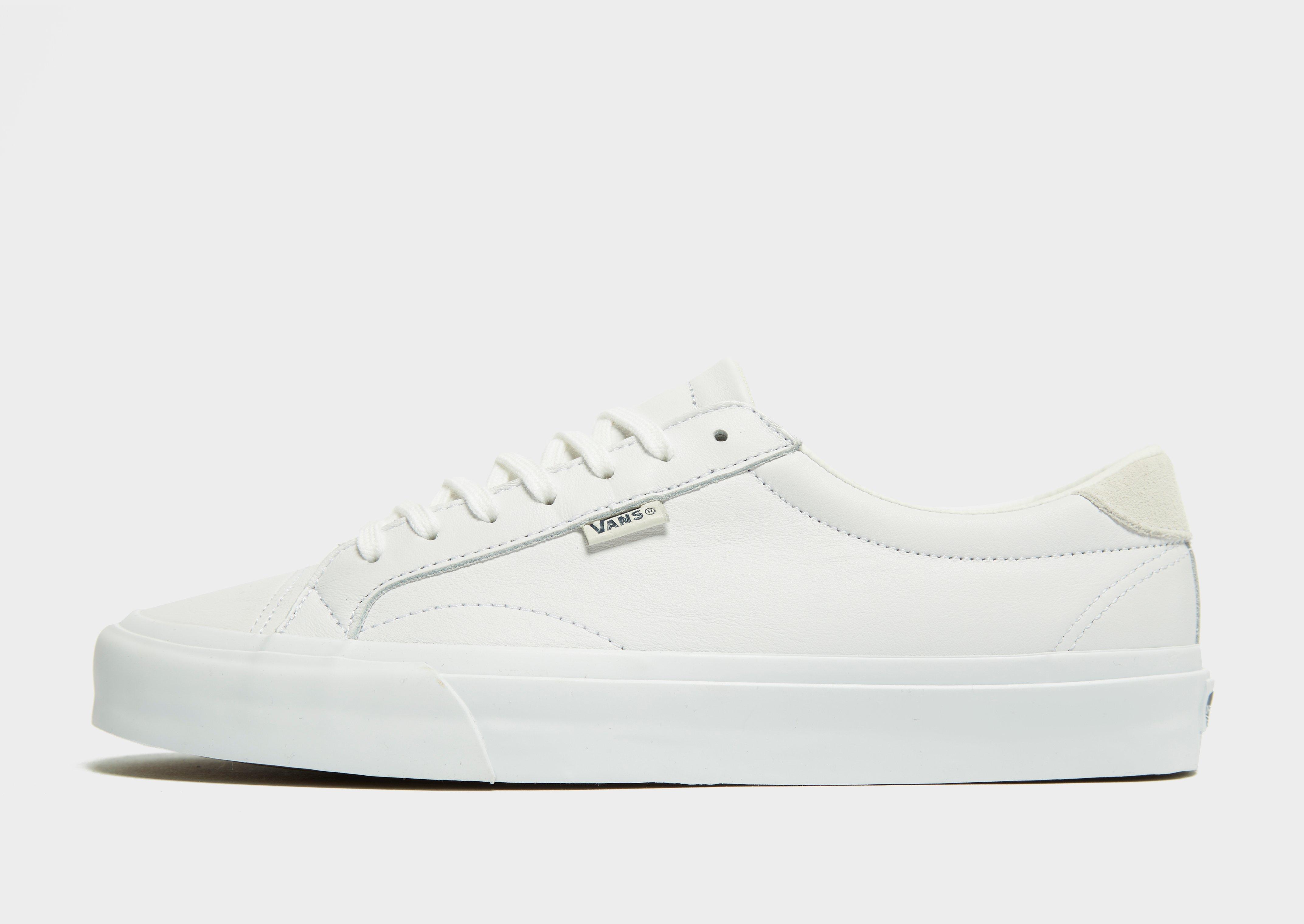 white vans leather