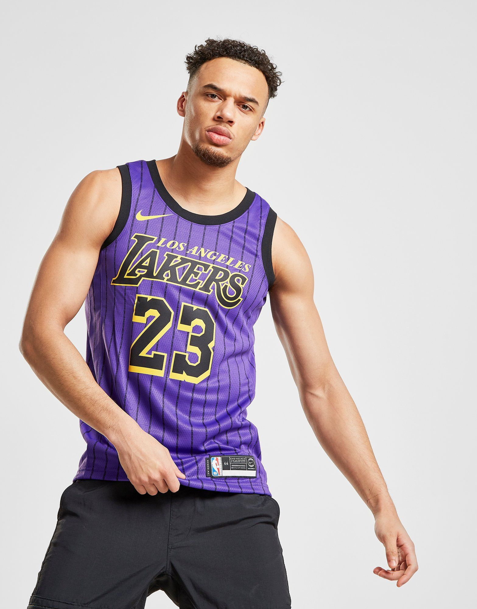 Nike NBA Los Angeles Lakers James #23 City Jersey