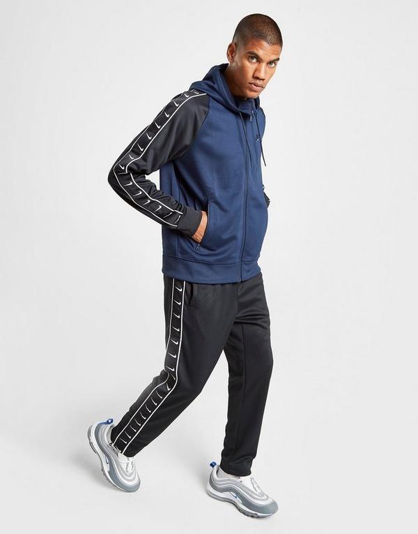 Køb Nike Tape Full Zip Hættetrøje Herre i Blå | JD Sports