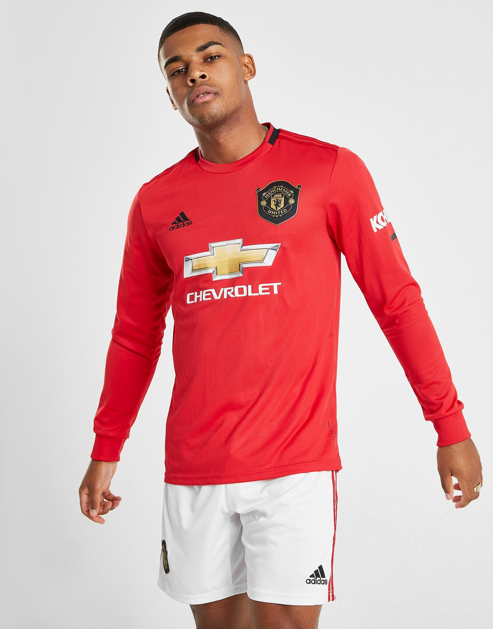 0108625e7ad adidas Manchester United 19 20 Long Sleeve Home Shirt