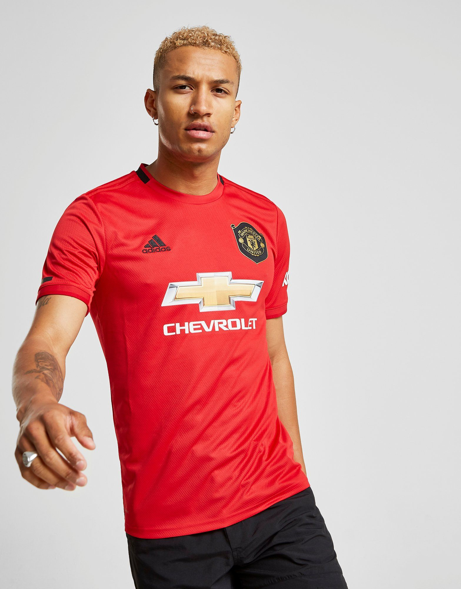 low priced 0e98d 54c63 adidas Manchester United FC 19/20 Home Shirt   JD Sports