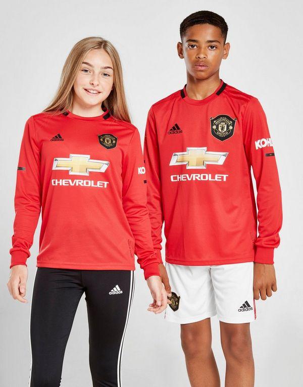 adidas Manchester United 19/20 LS Home Shirt Jr
