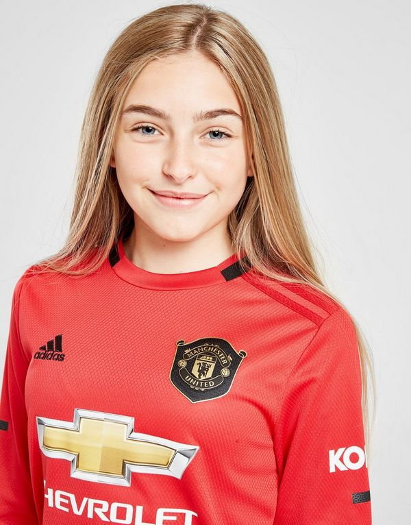 the latest c3ac8 41e94 adidas Manchester United 19/20 LS Home Shirt Jr | JD Sports