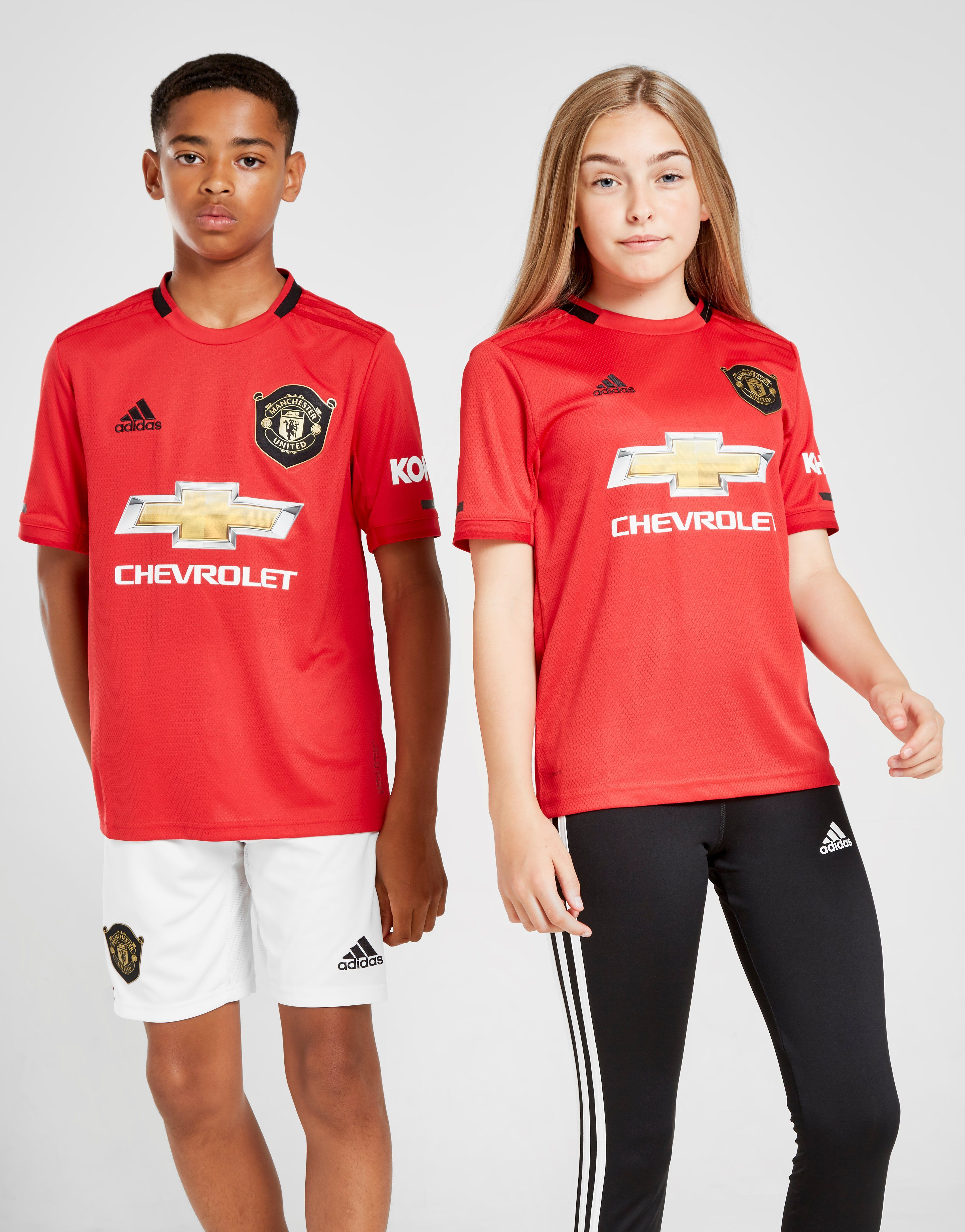 sneakers for cheap af917 8253a adidas Manchester United 19/20 Home Shirt Junior | JD Sports