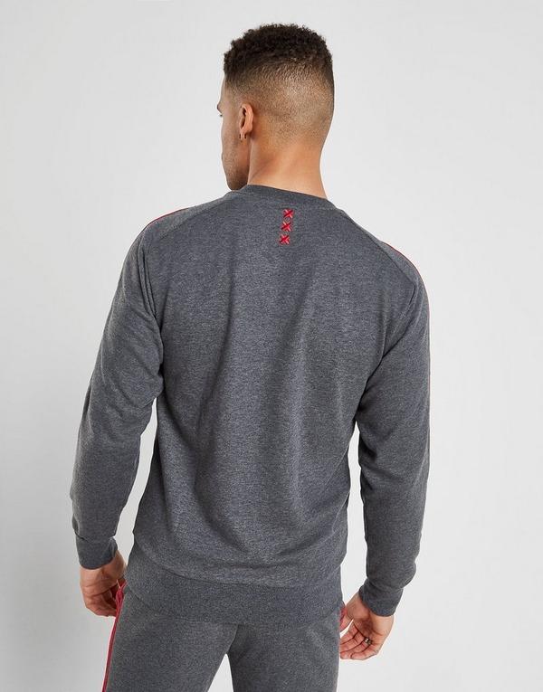 adidas Ajax 3-Stripes Crew Sweatshirt