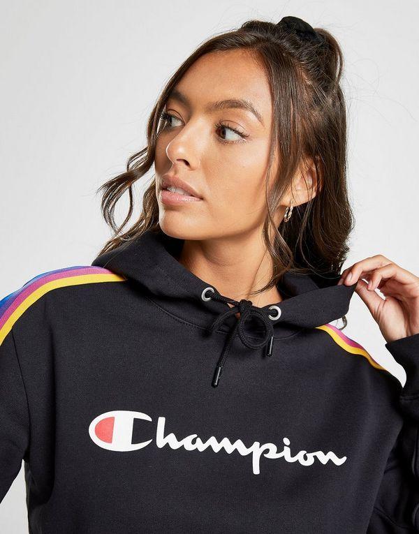 Champion Rainbow Tape Boyfriend Hoodie Dames