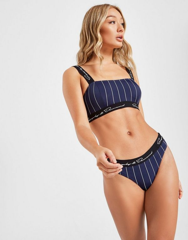 Supply & Demand Pinstripe Bikini Top