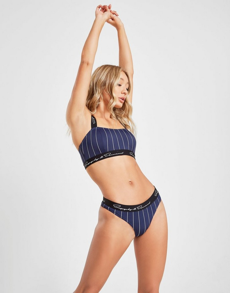 Supply & Demand Pinstripe Bikini Bottoms