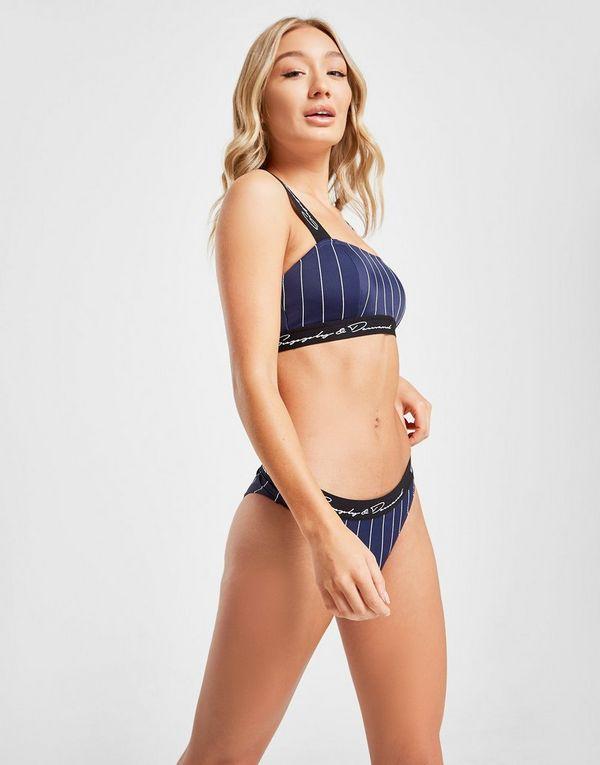 Supply & Demand Pinstripe Bikini Bottoms