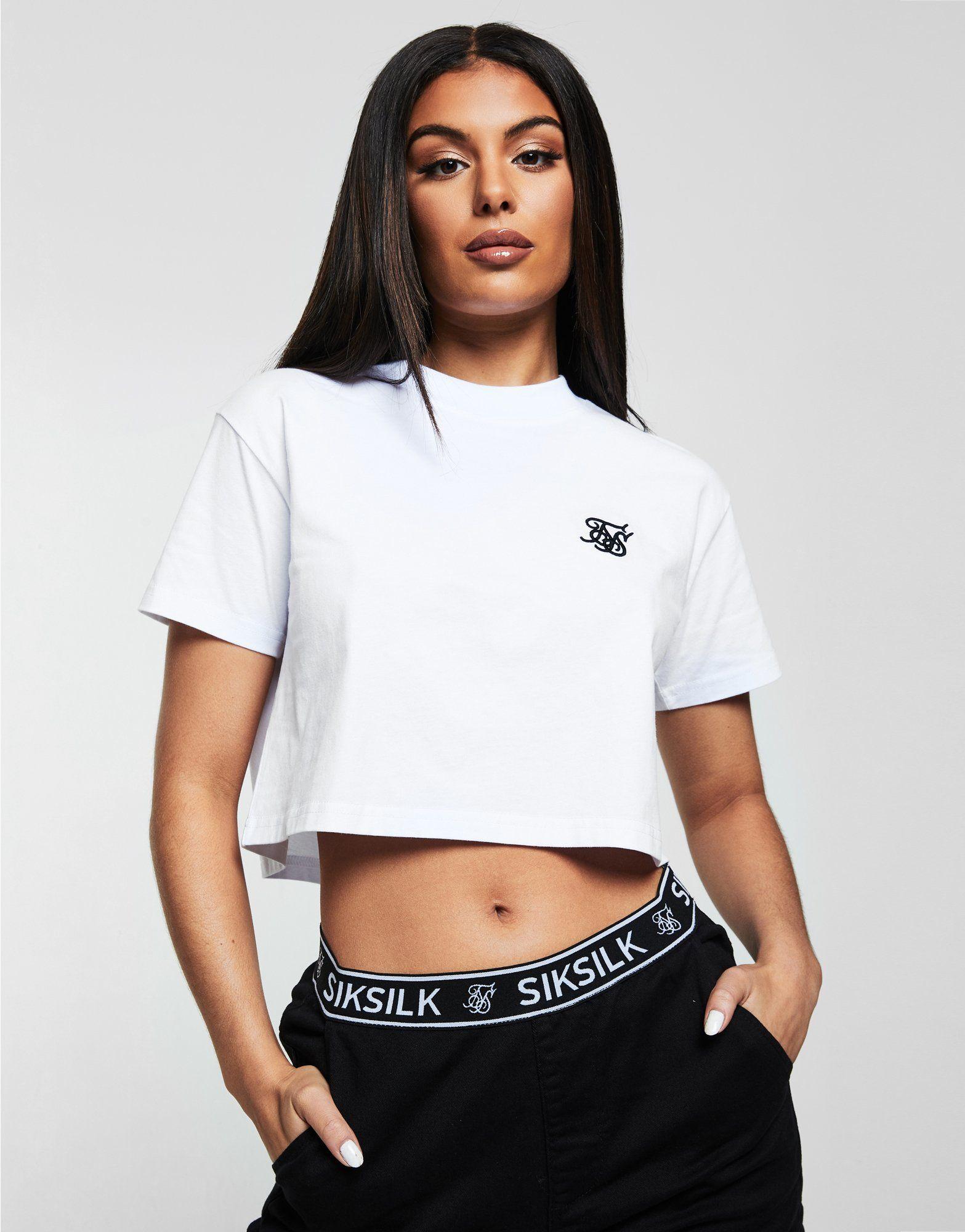 SikSilk camiseta Crop