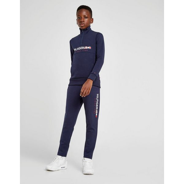 Tommy Hilfiger 1/4 Zip Flag Fleece Sweatshirt Junior