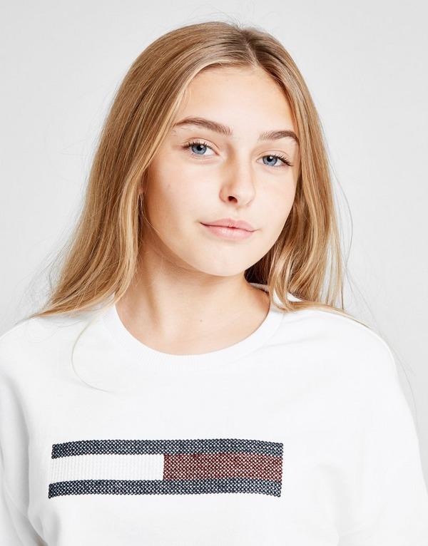 Tommy Hilfiger Girls' Lurex Flag Crew Sweatshirt