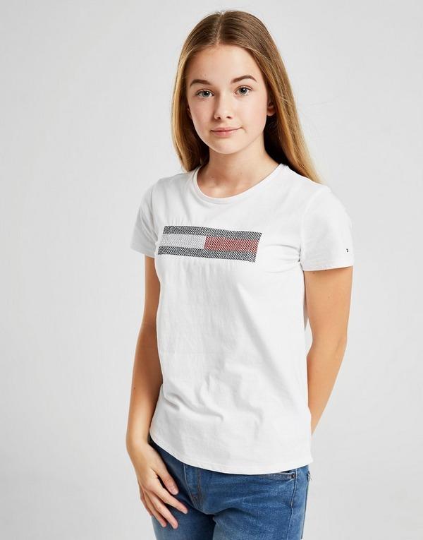 Tommy Hilfiger Girls' Lurex Flag T-Shirt Junior