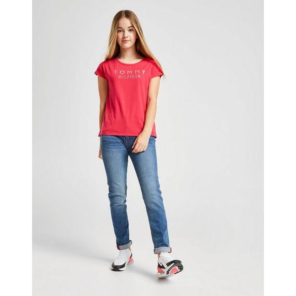 Tommy Hilfiger Girls' Foil Logo T-Shirt Junior