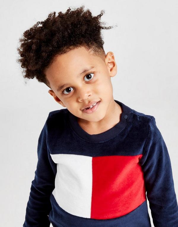 Tommy Hilfiger Velour Colour Block Crew Sweatshirt Infant