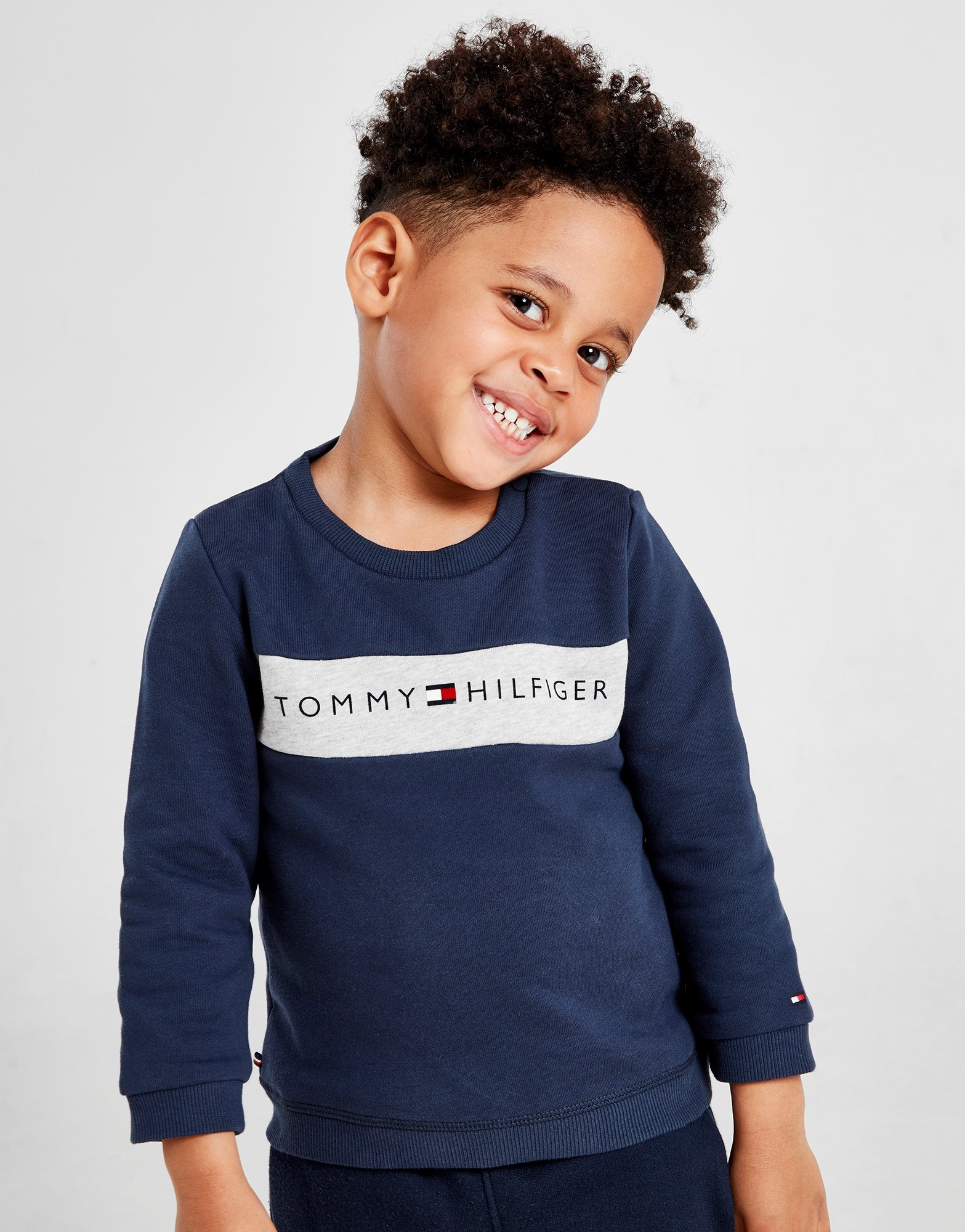 Tommy Hilfiger Logo Crew Sweatshirt Infant by Tommy Hilfiger