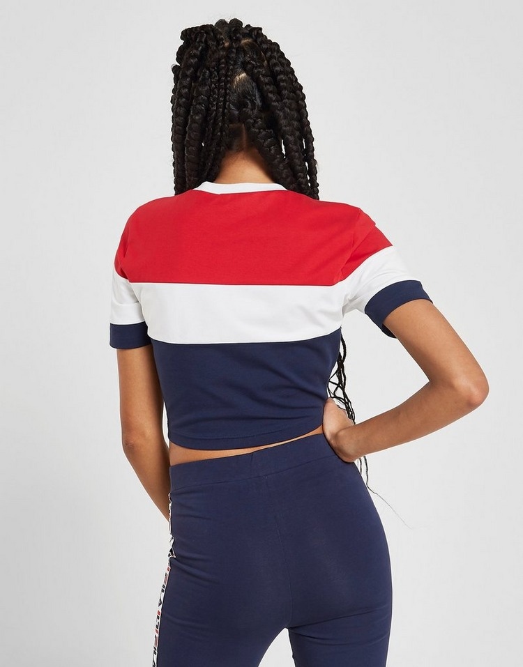 Fila Colour Block Crop T-Shirt
