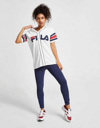 Fila Stripe Baseball T-Shirt Donna | JD Sports