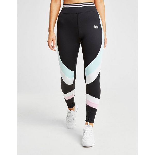 Pink Soda Sport Stripe Tights