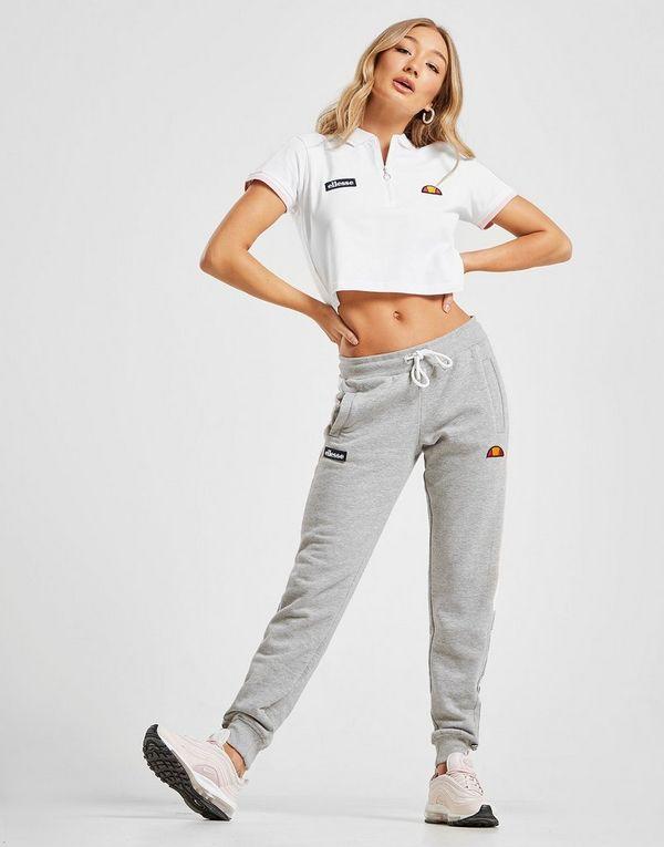 Ellesse Piping Crop Polo Shirt
