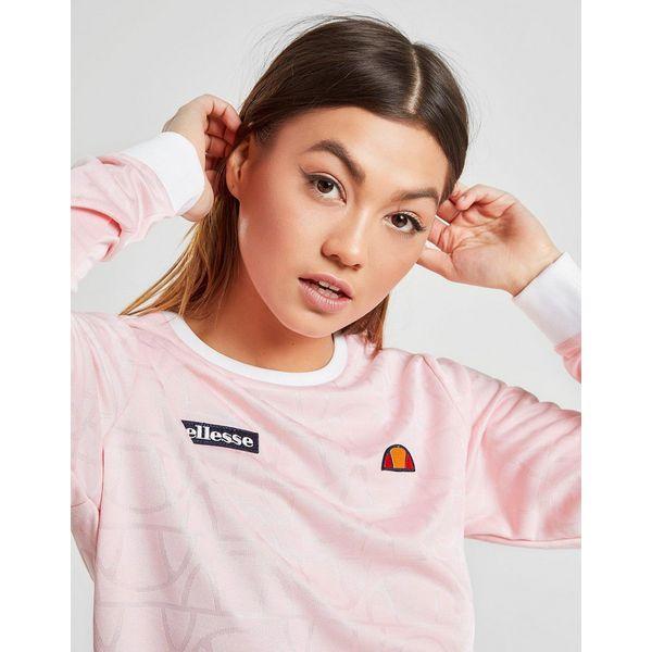 Ellesse All Over Print Logo Long Sleeve T-Shirt
