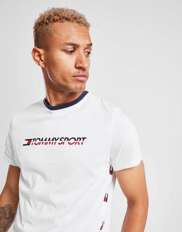 9f76be0f3 Tommy Hilfiger Logo Side Tape T-Shirt | JD Sports