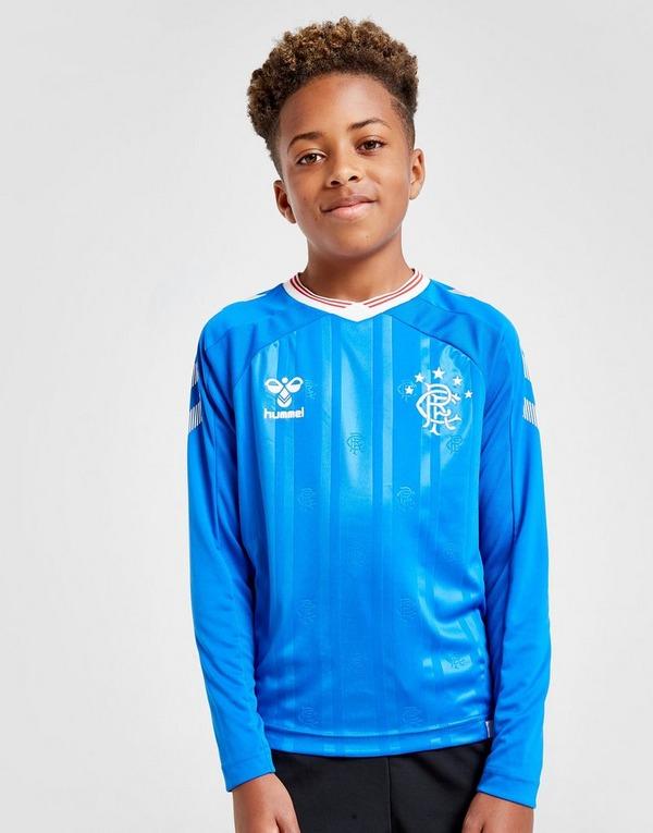 Hummel Rangers FC 2019/20 Long Sleeve Home Shirt Junior