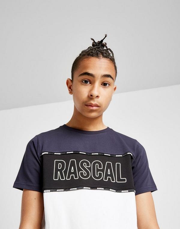 Rascal Colour Block Logo Tape T-Shirt Junior