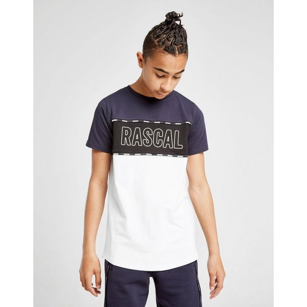 Rascal Colour Block Logo Tape T-Shirt Junior