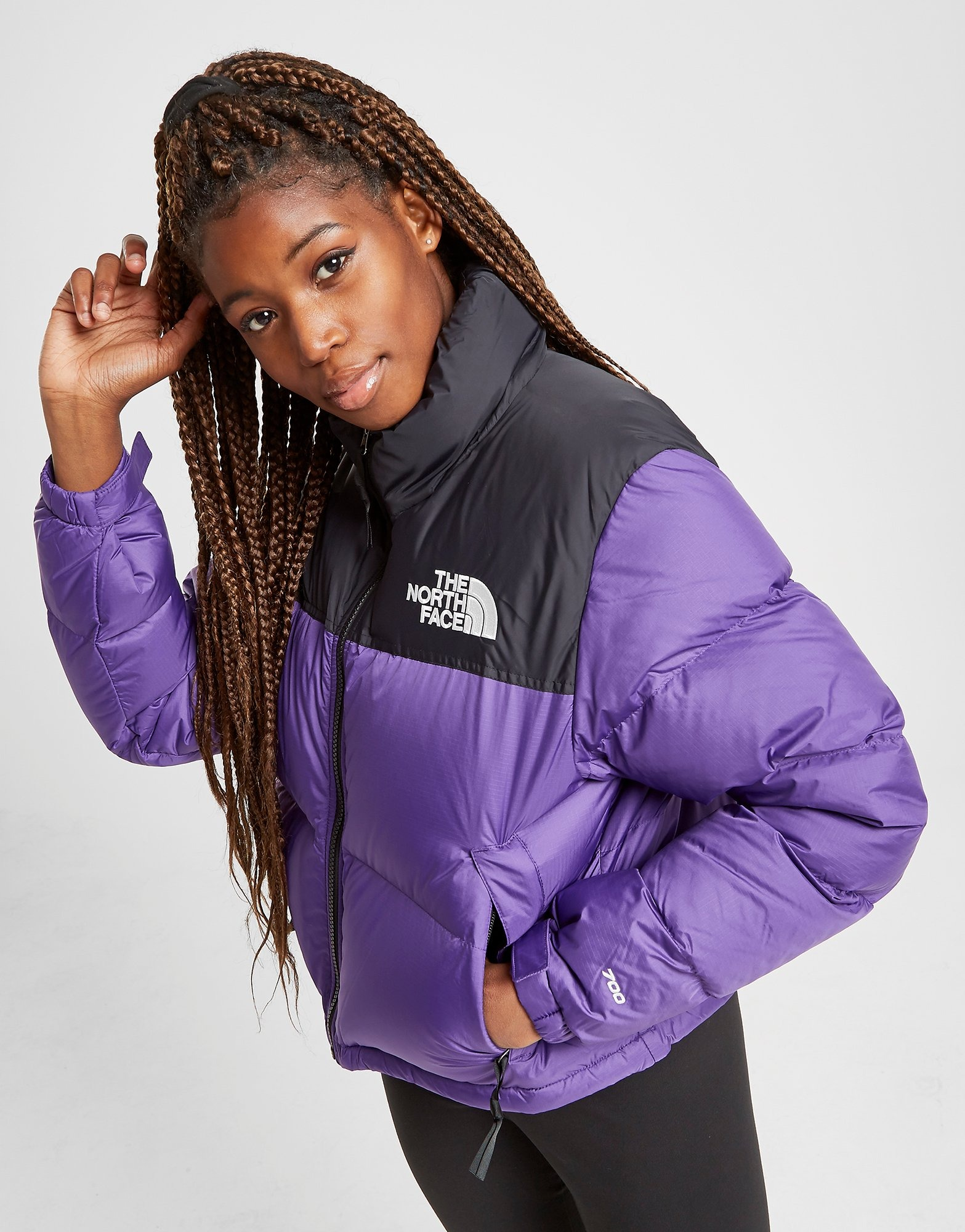 The North Face Crop Nuptse Giacca Donna   JD Sports