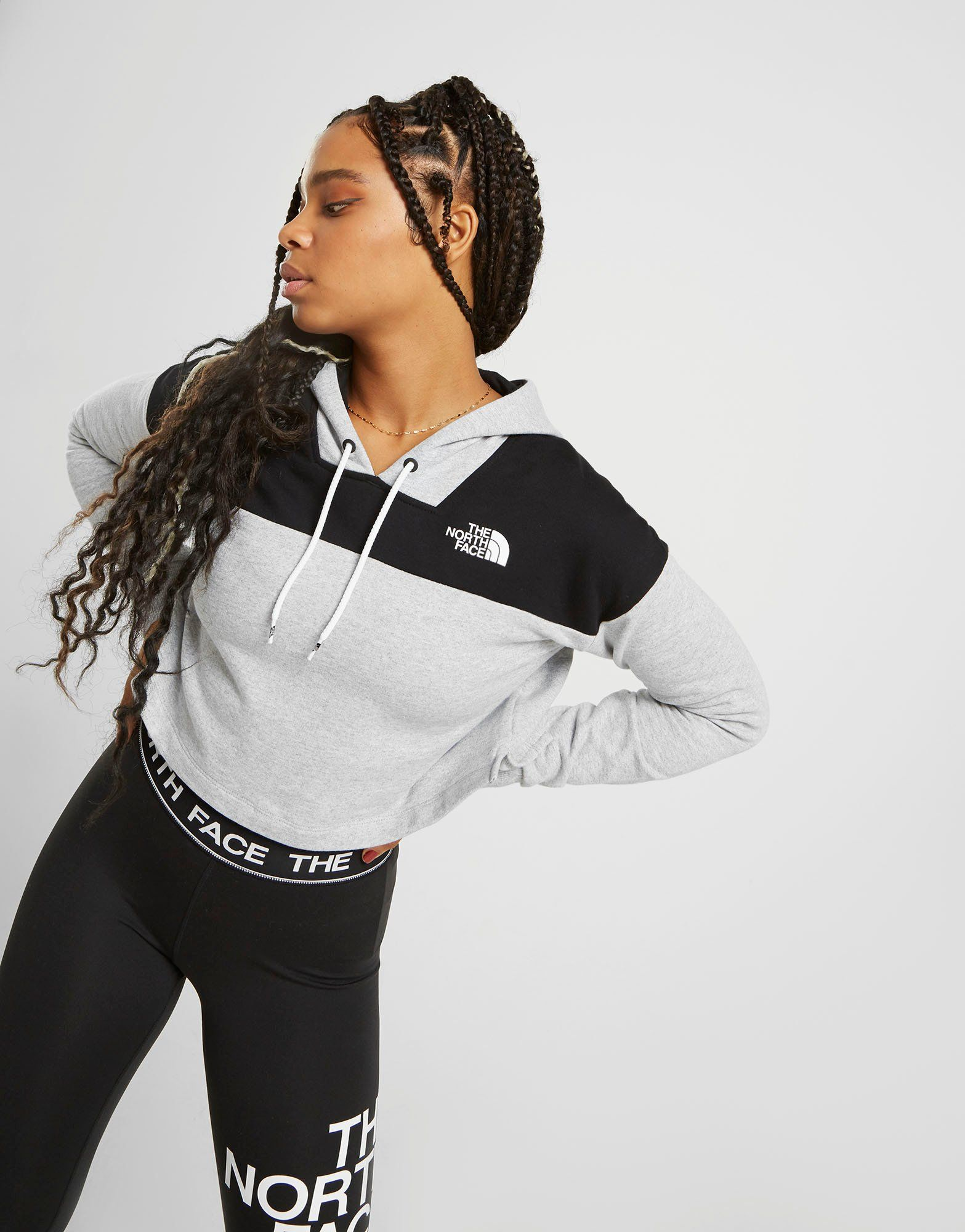 The North Face Colour Block Crop Hoodie by The North Face