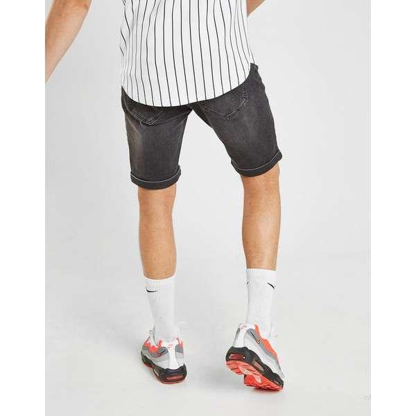 Supply & Demand Puncture Denim Shorts