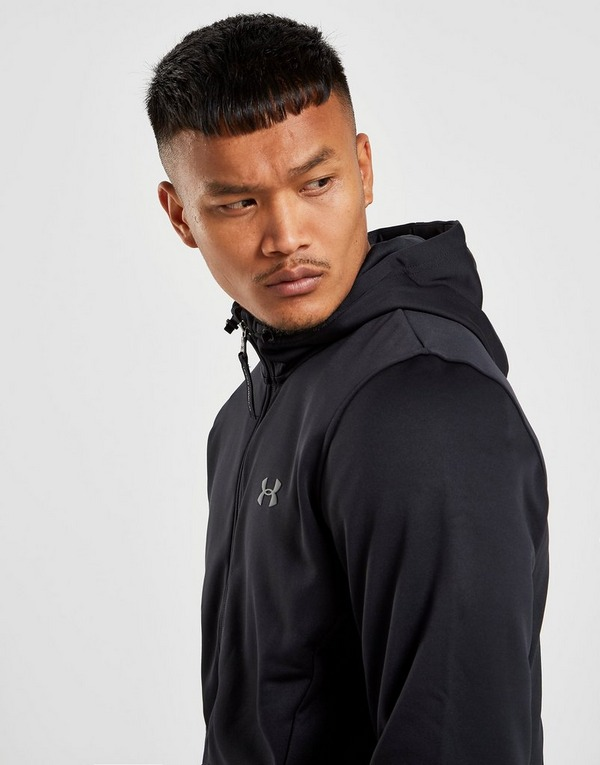 Acherter Noir Under Armour Sweat à capuche Polaire Zippé