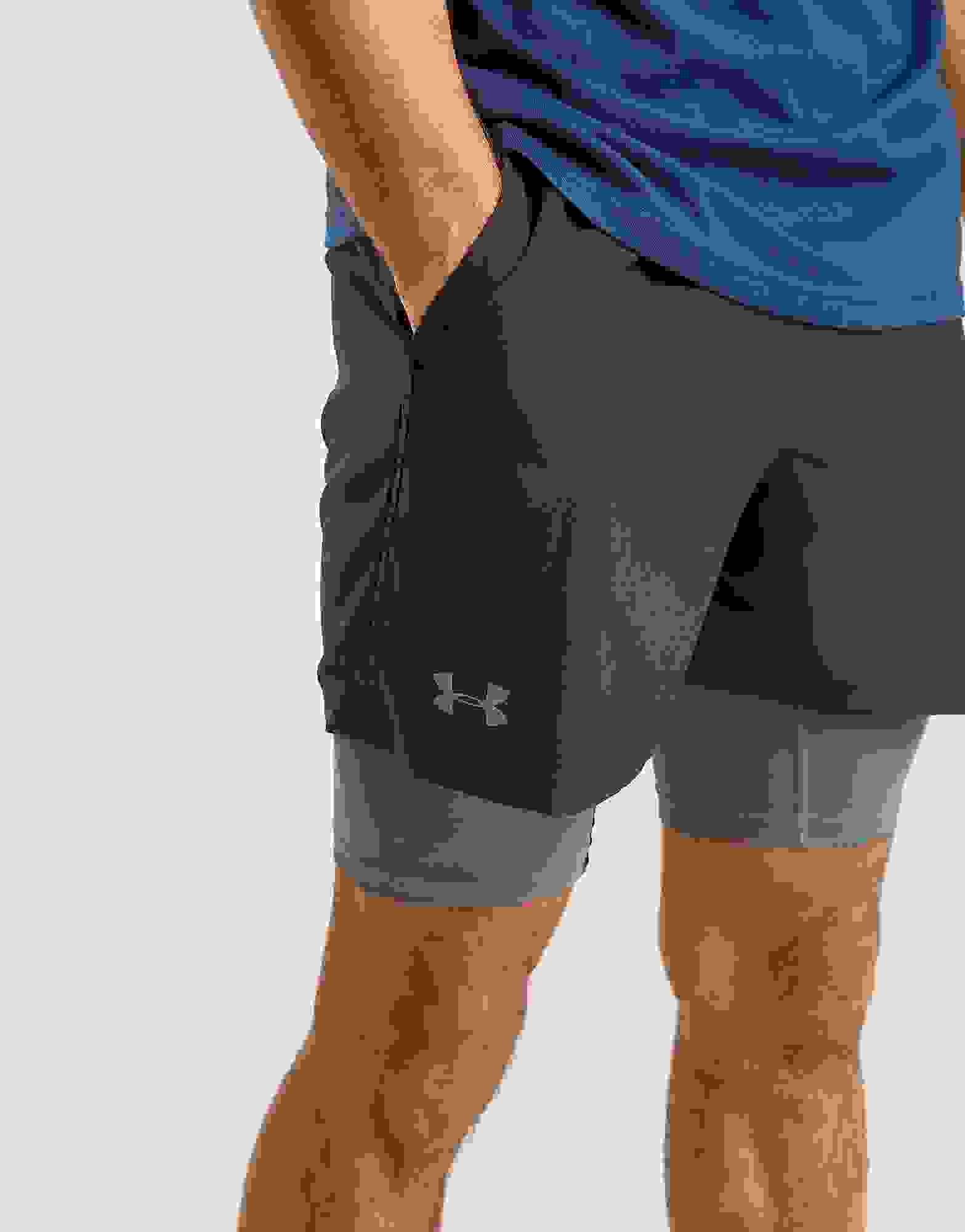 Under Armour Speedpocket Short 2 en 1 pour homme