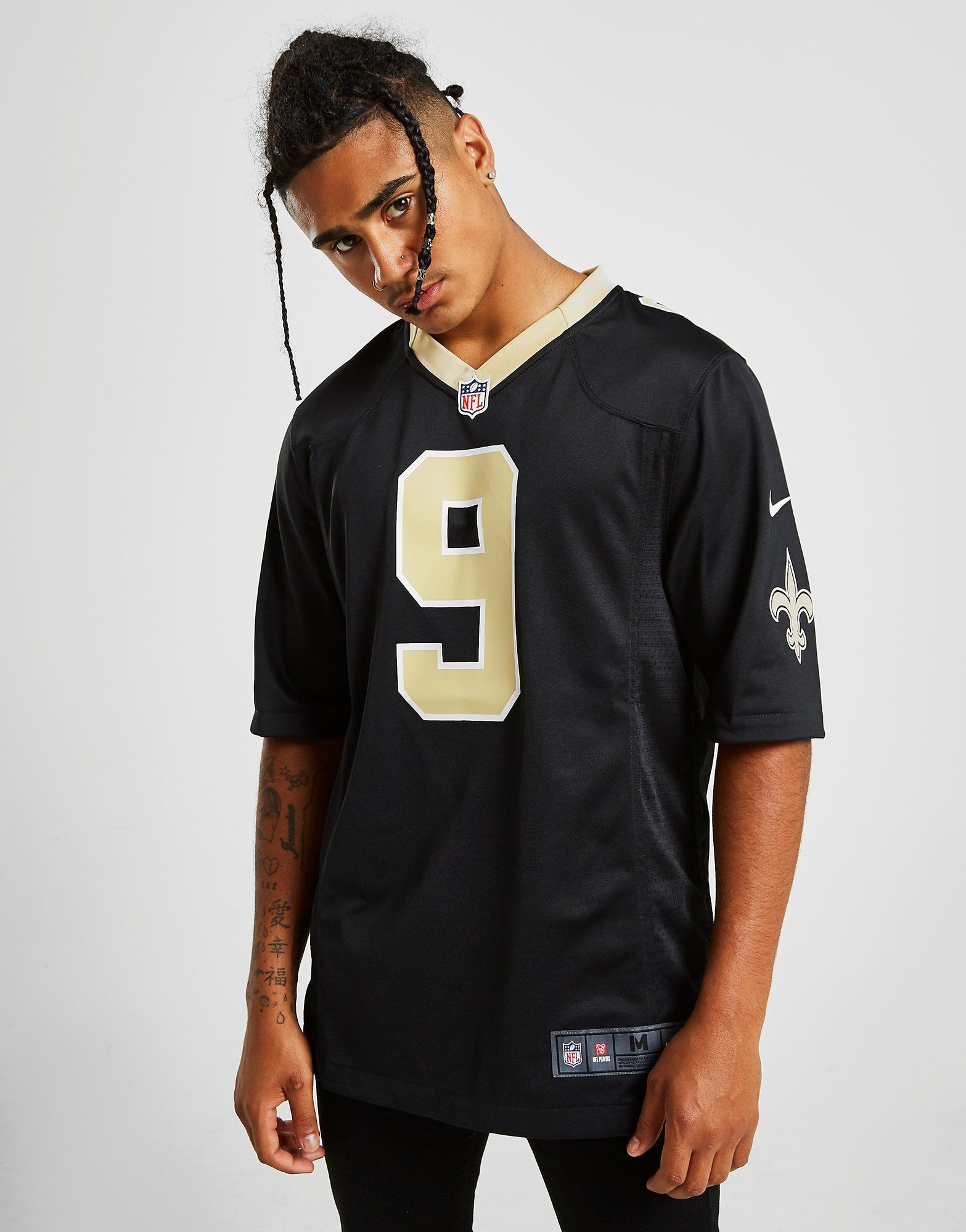 size 40 cef25 86fa7 Nike NFL New Orleans Saints Game (Drew Brees) Men's American Football  Jersey | JD Sports