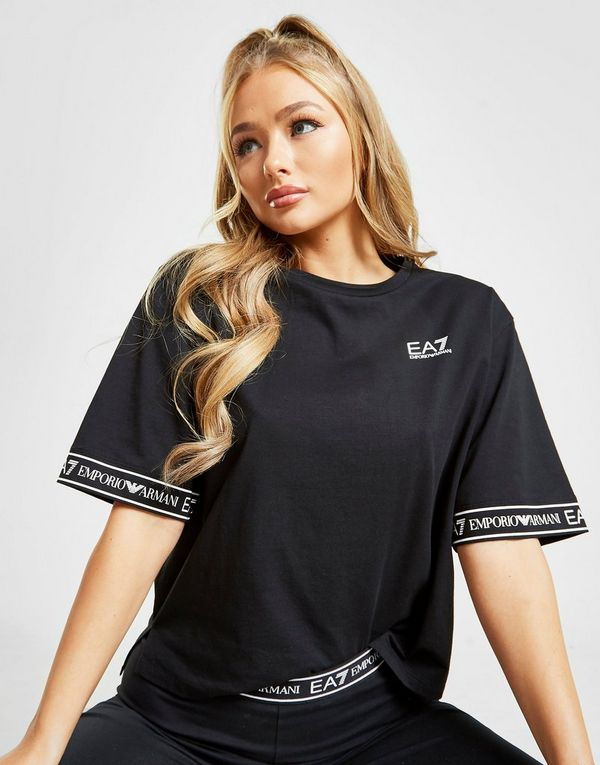 Emporio Armani EA7 Sleeve Print Crop T-Shirt
