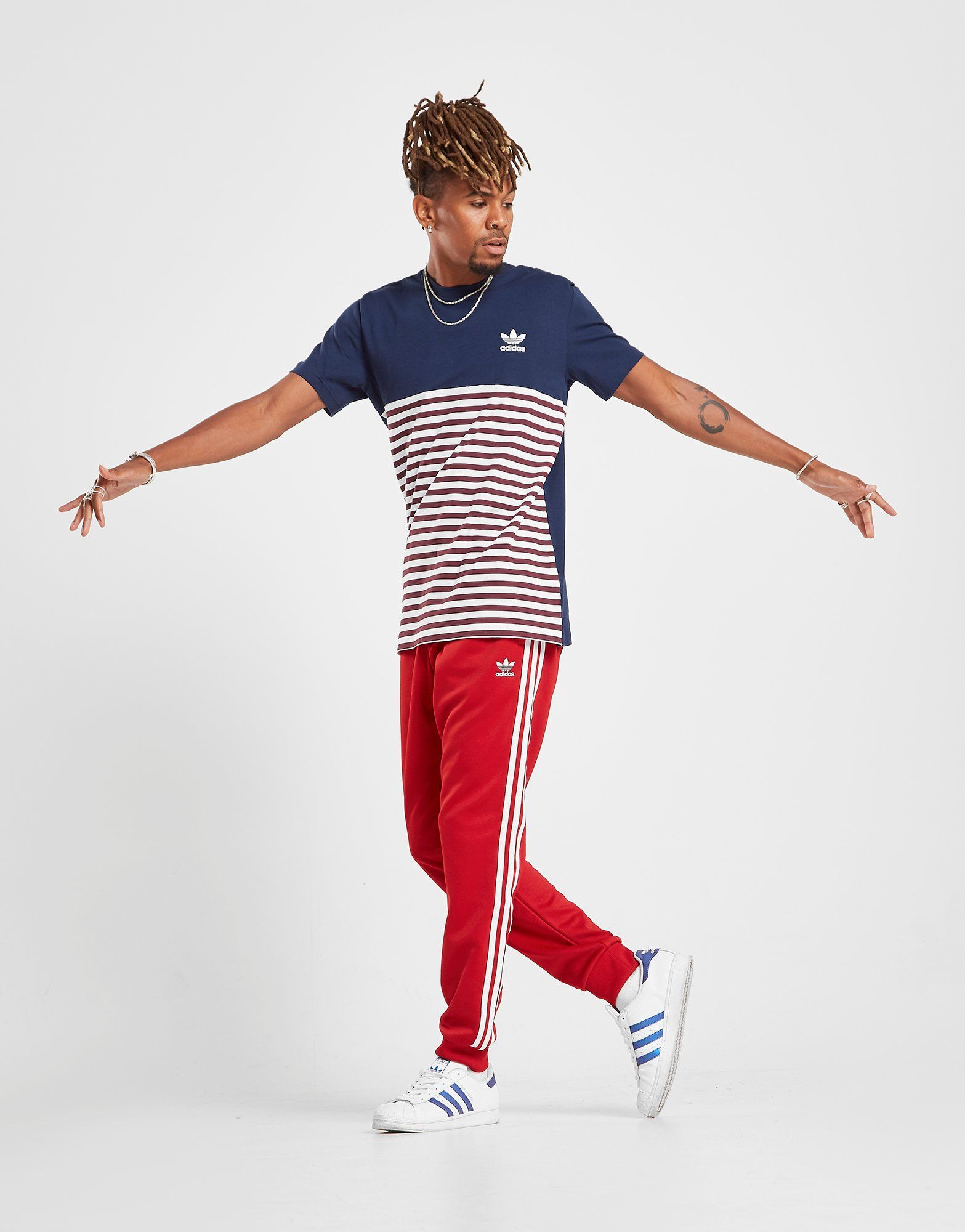 Adidas Originals Trefoil Stripe T Shirt by Adidas Originals