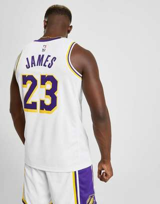 cheap for discount 244d6 d19b2 Nike NBA Los Angeles Lakers Swingman James #23 Jersey | JD ...